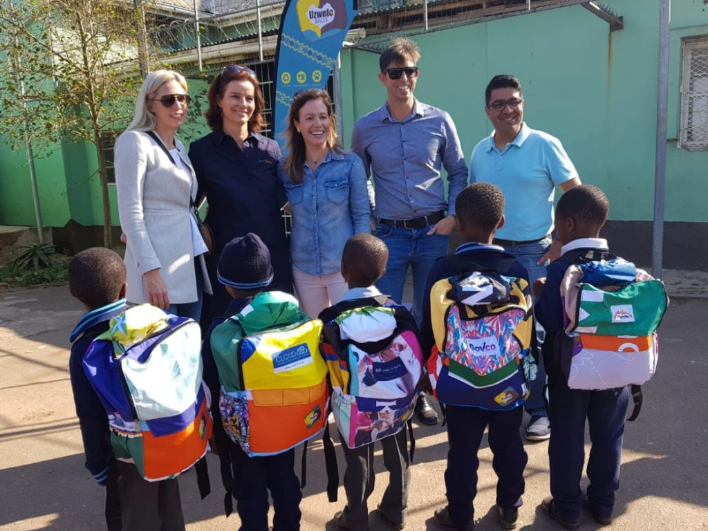 Inchanga School Initiative Uzwelo Bag Handover
